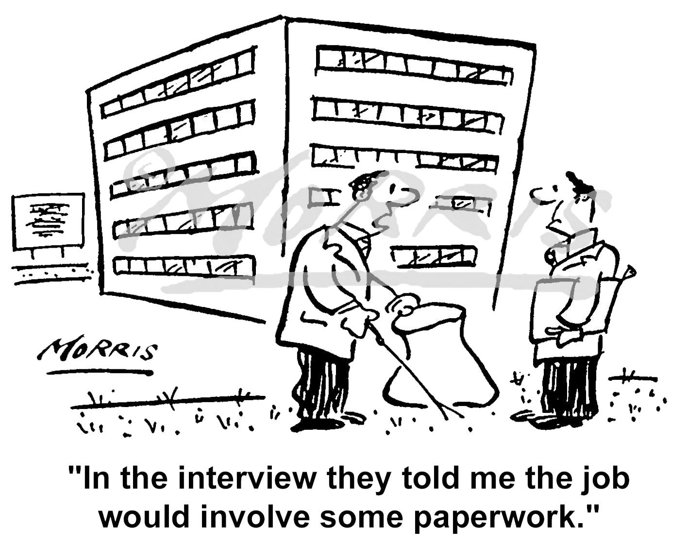 Interview job comic cartoon Ref: 0626bw