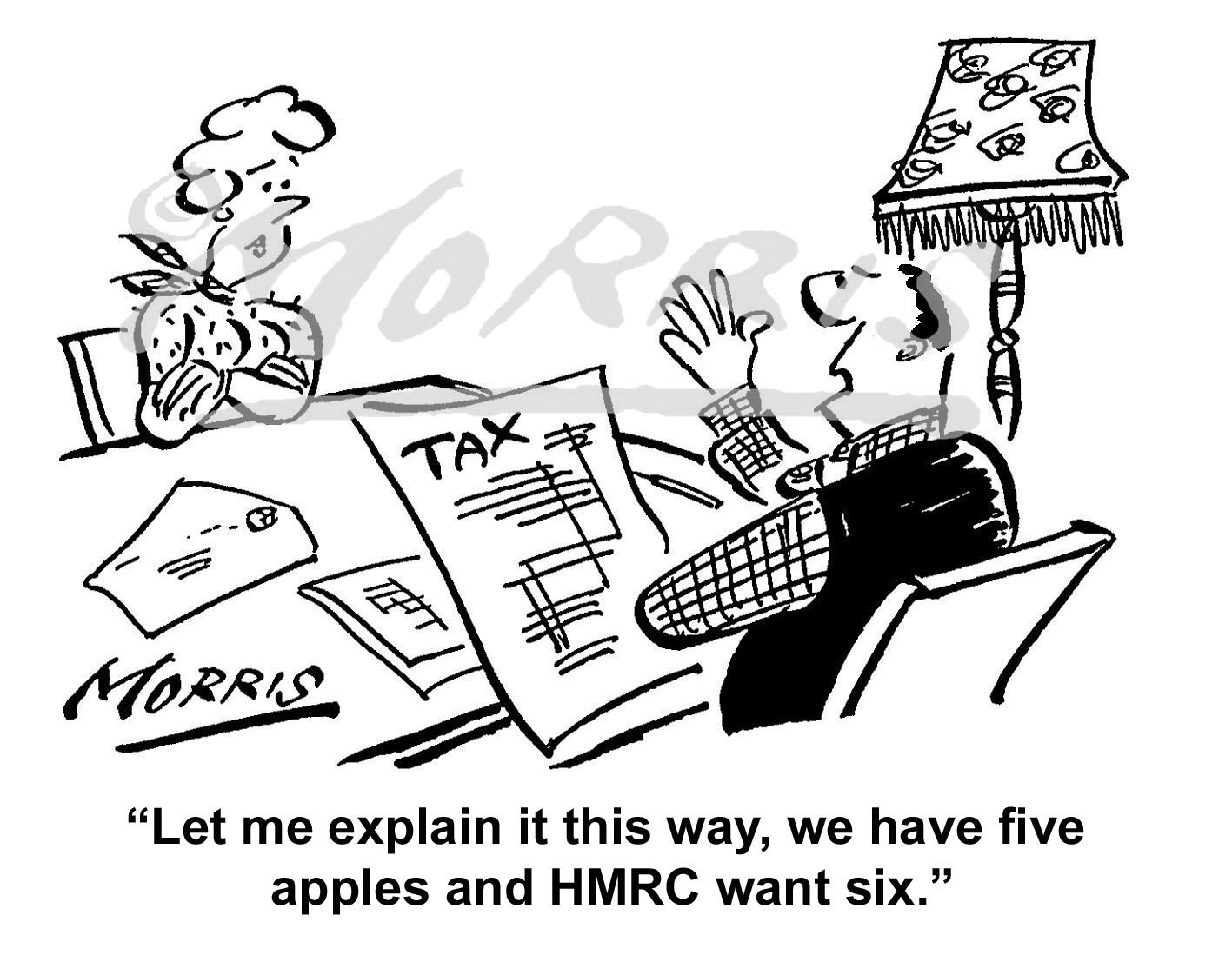 HMRC cartoon, Tax cartoon, Taxation cartoon, Accountant cartoon – Ref: 0631bw