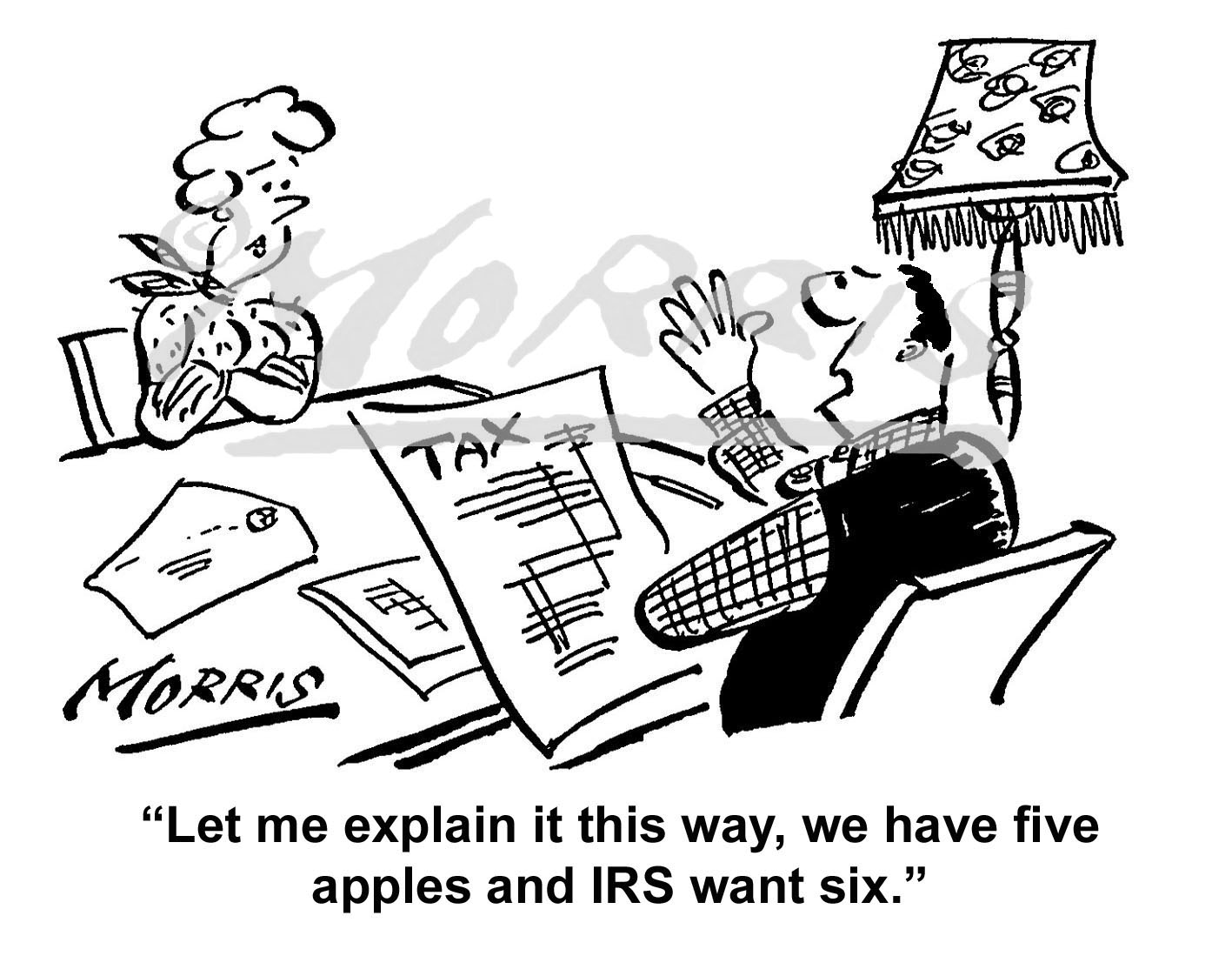 IRS cartoon, Tax cartoon Ref: 0631bwus