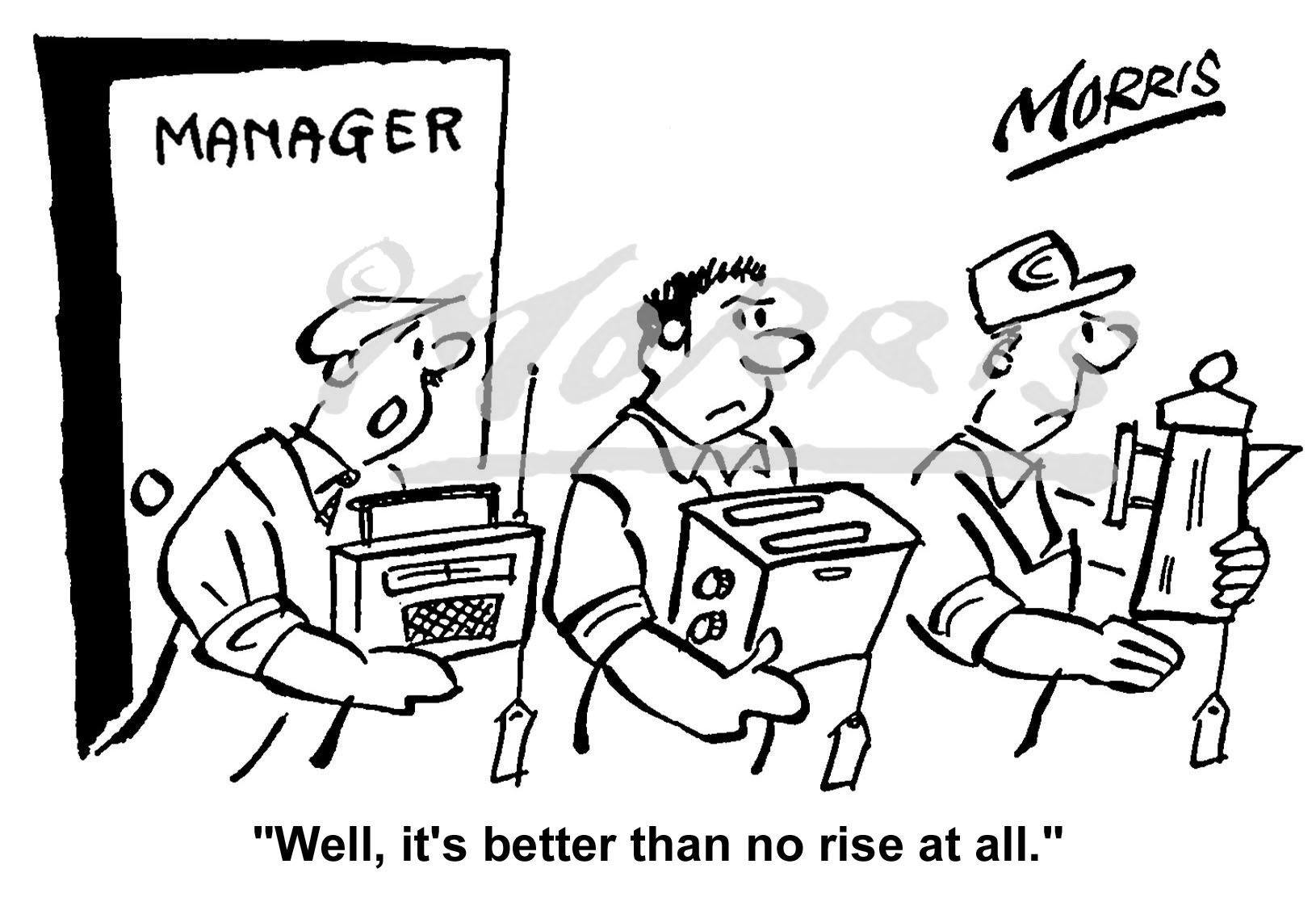 Manager workforce bonus cartoon Ref: 0655bw