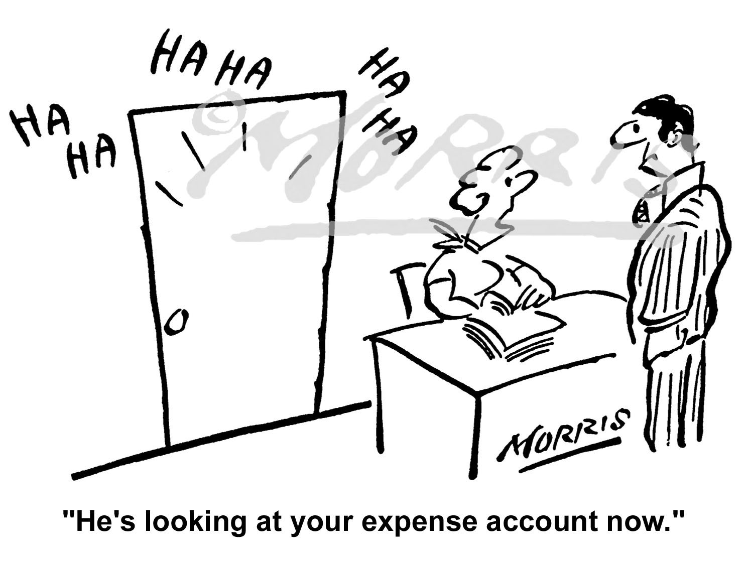 Expense account cartoon – Ref: 0662bw