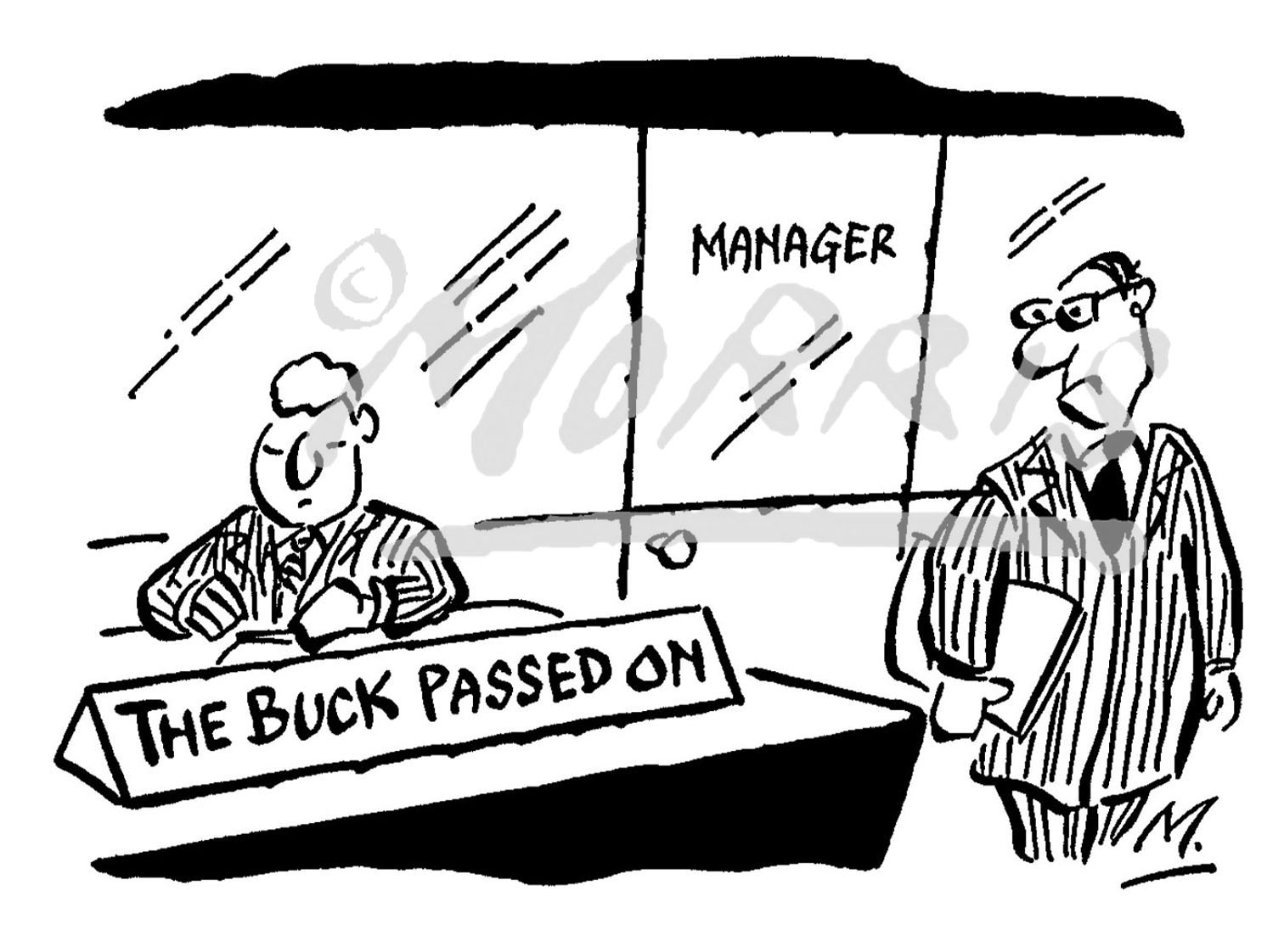Employee management comic cartoon Ref: 0668bw