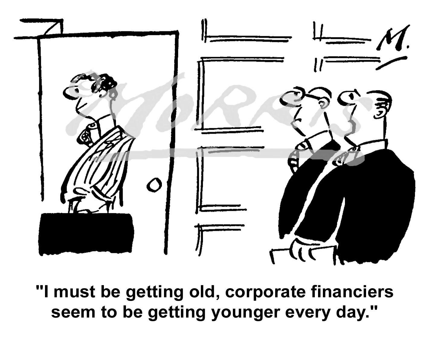 Corporate financier cartoon Ref: 0707bw
