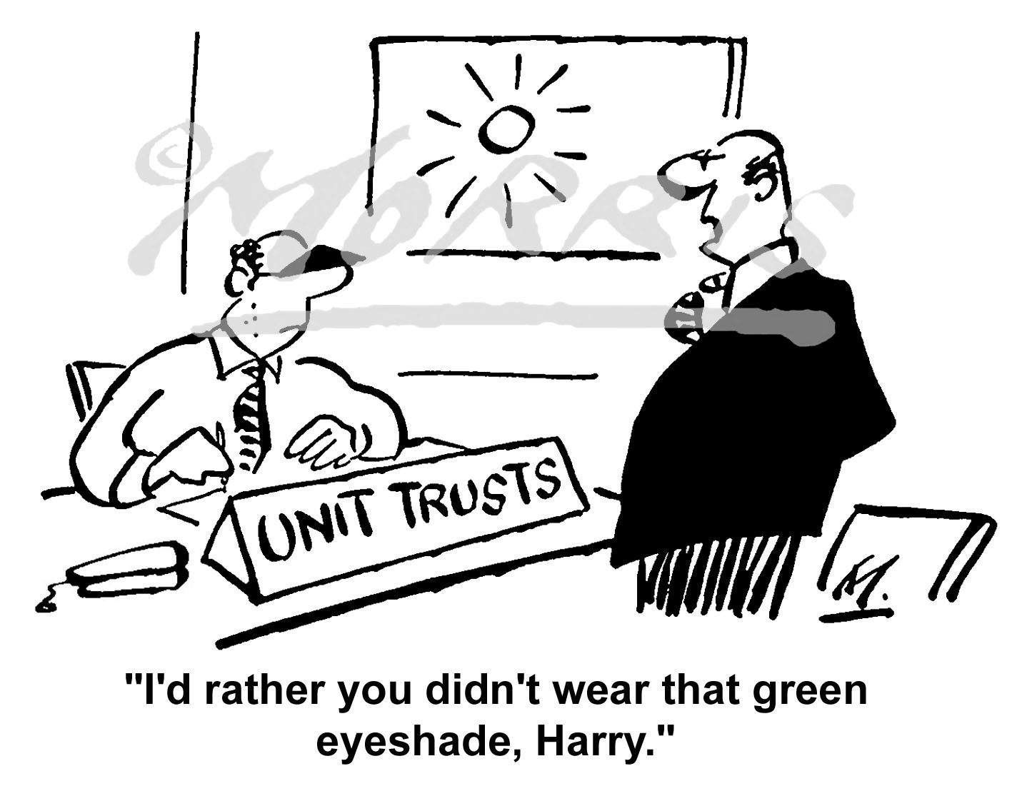 Unit Trust Manager cartoon Ref: 0717bw