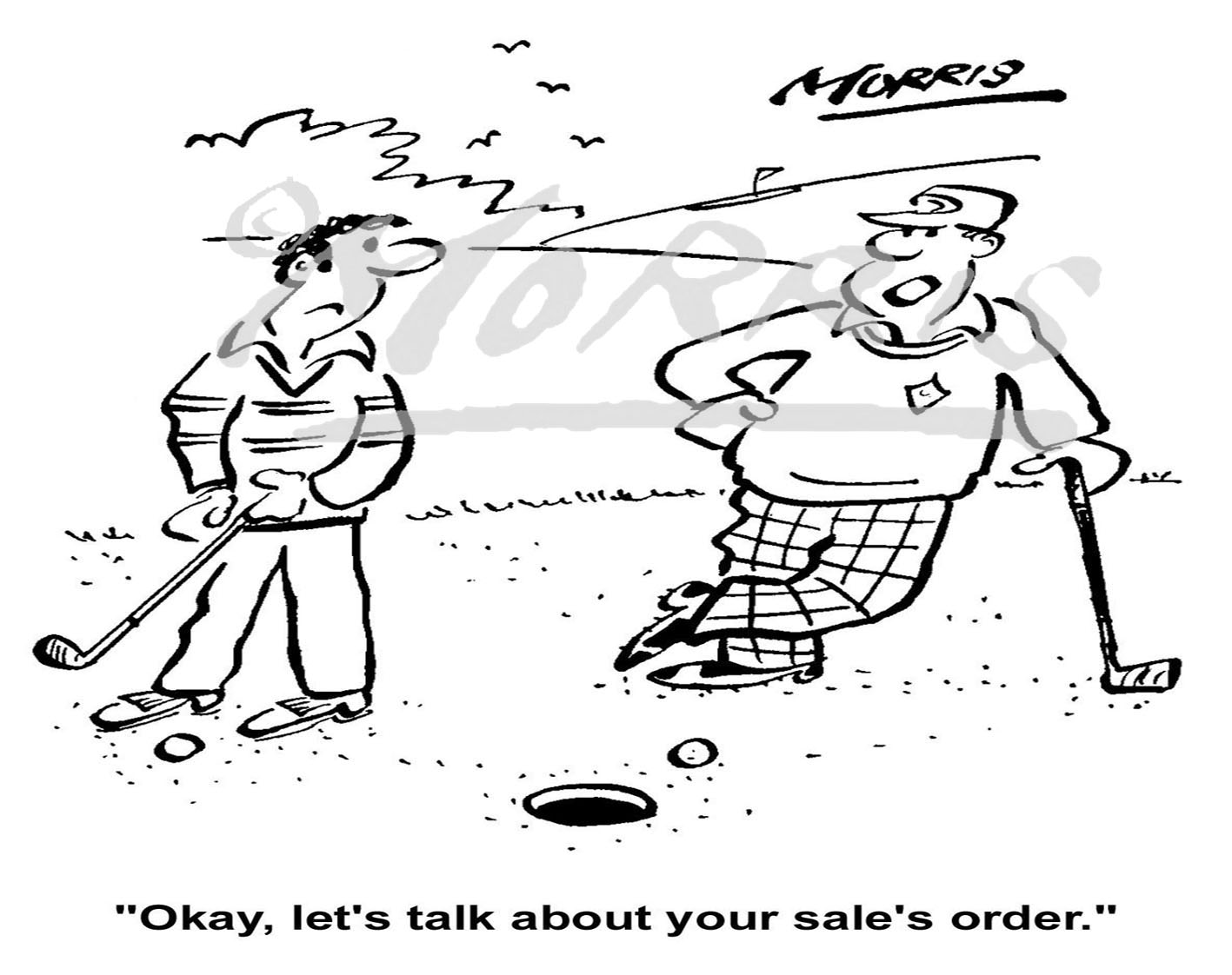 Golf sales order comic business cartoon – Ref: 0724bw