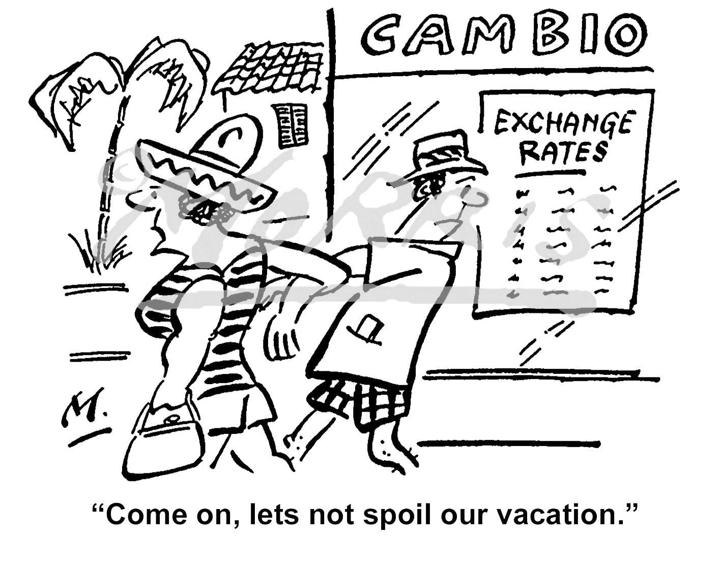 Vacation cartoon, Vacation comic – Ref: 0728bwus