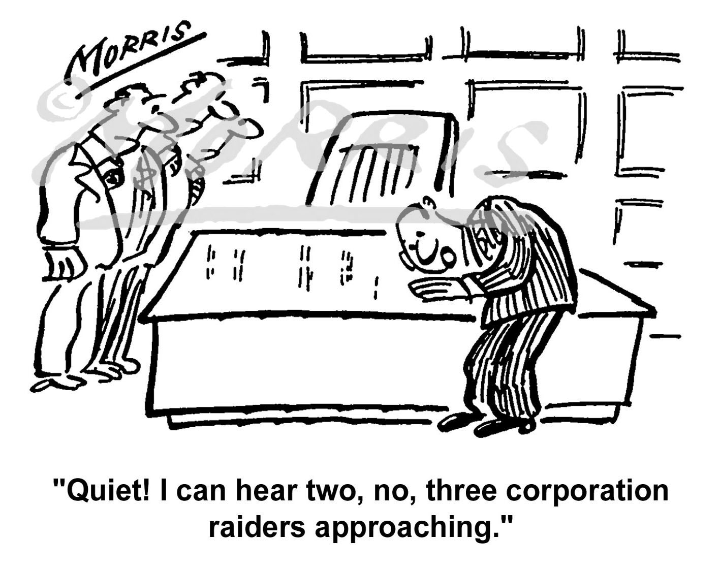 Boardroom corporation raiders cartoon Ref: 0733bw