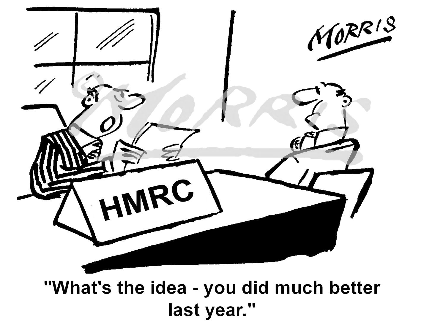 HMRC tax cartoon Ref: 0752bw
