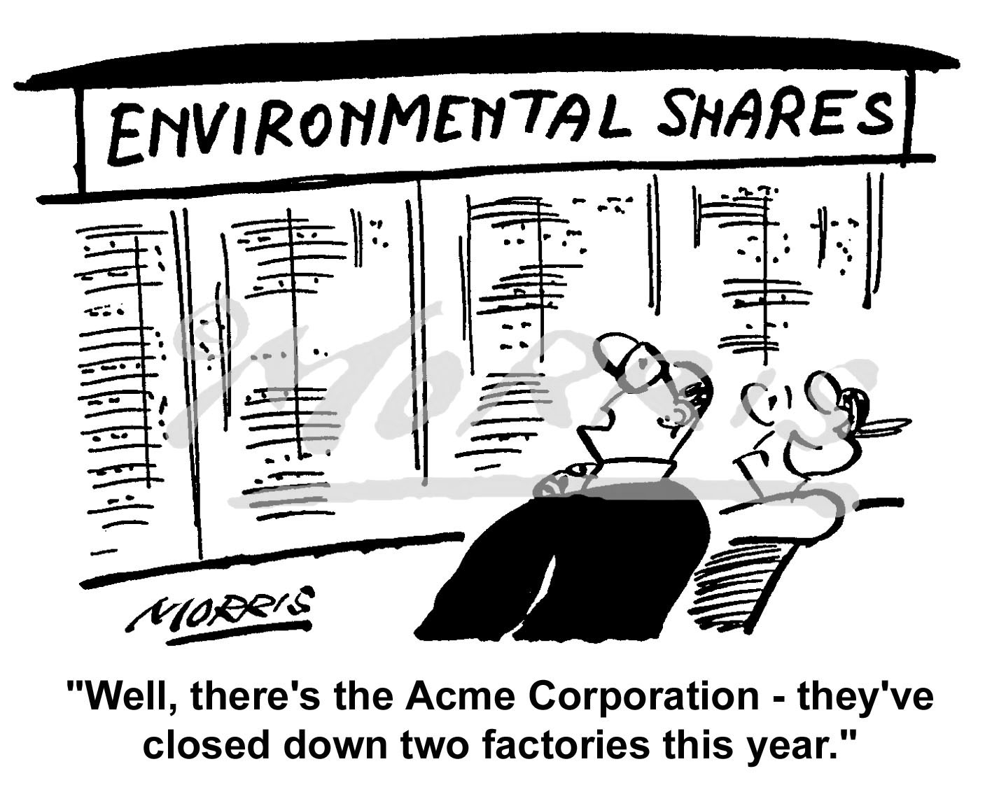 Environment shares cartoon Ref: 0766bw