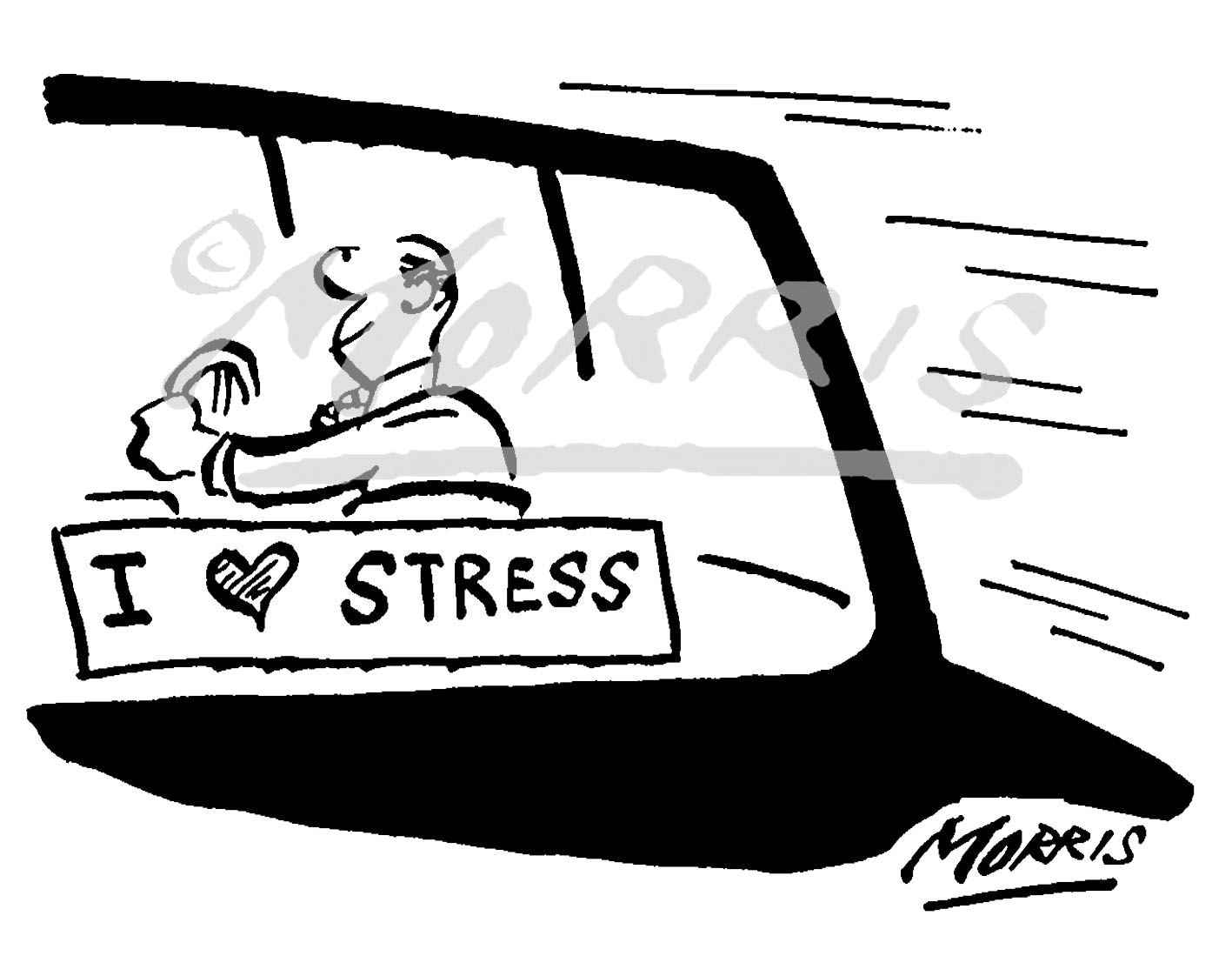 Stress cartoon Ref: 0855bw