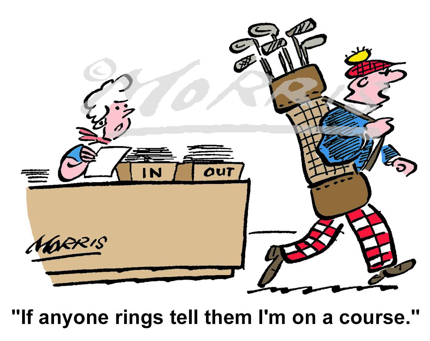 Golf cartoon, golfing cartoon, golf course cartoon, – Ref: 1021col