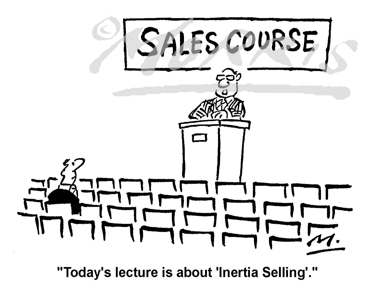 Sales cartoon, Sales course cartoon, Sales training cartoon