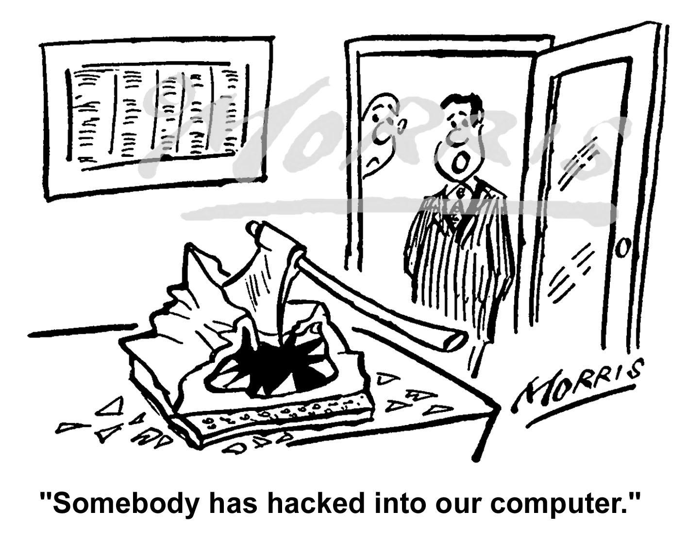 IT computer business cartoon Ref: 1159bw