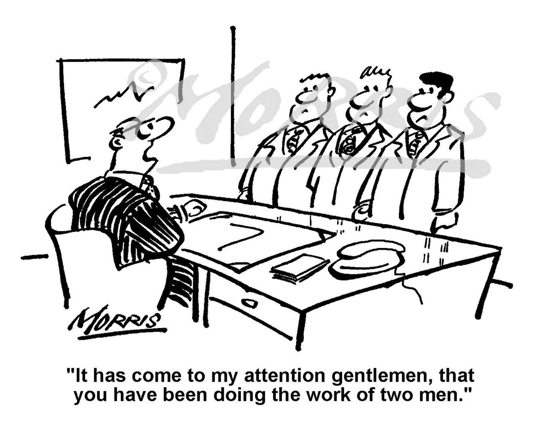 Management cartoon, Workplace cartoon