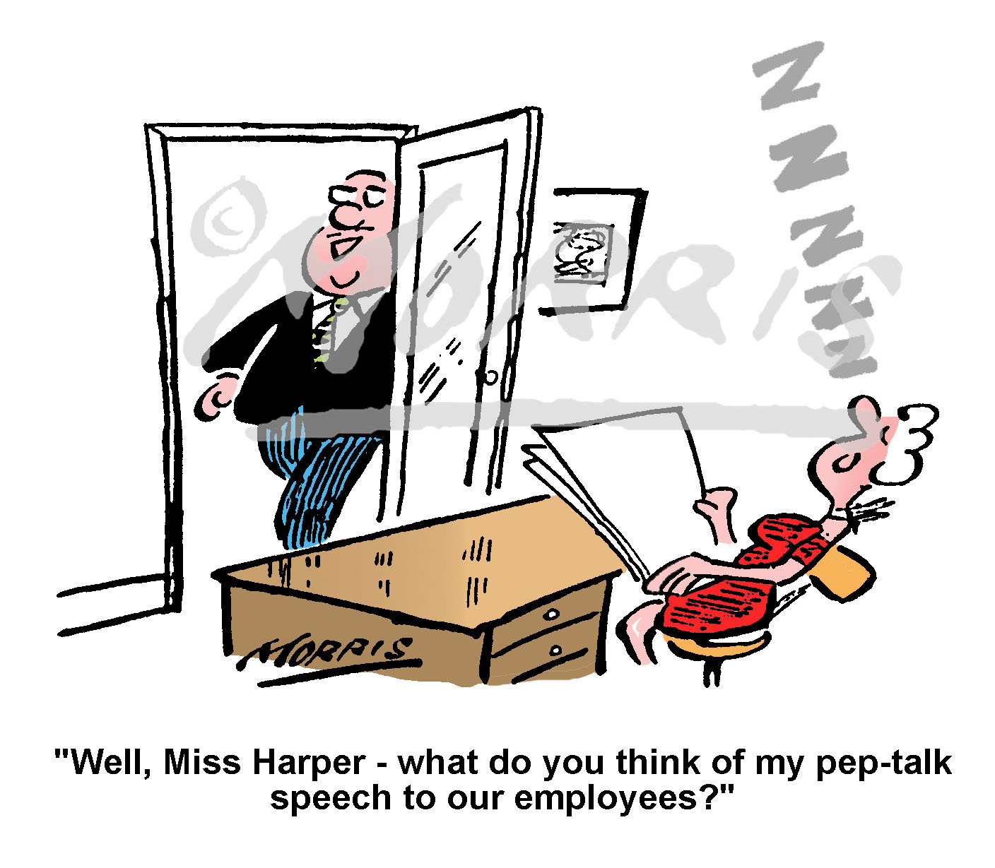 Motivation speech to employees cartoon Ref: 1181col