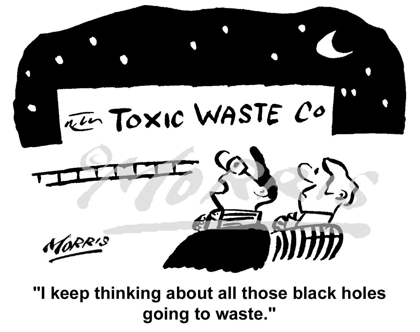 Toxic waste cartoon – Ref: 1204bw