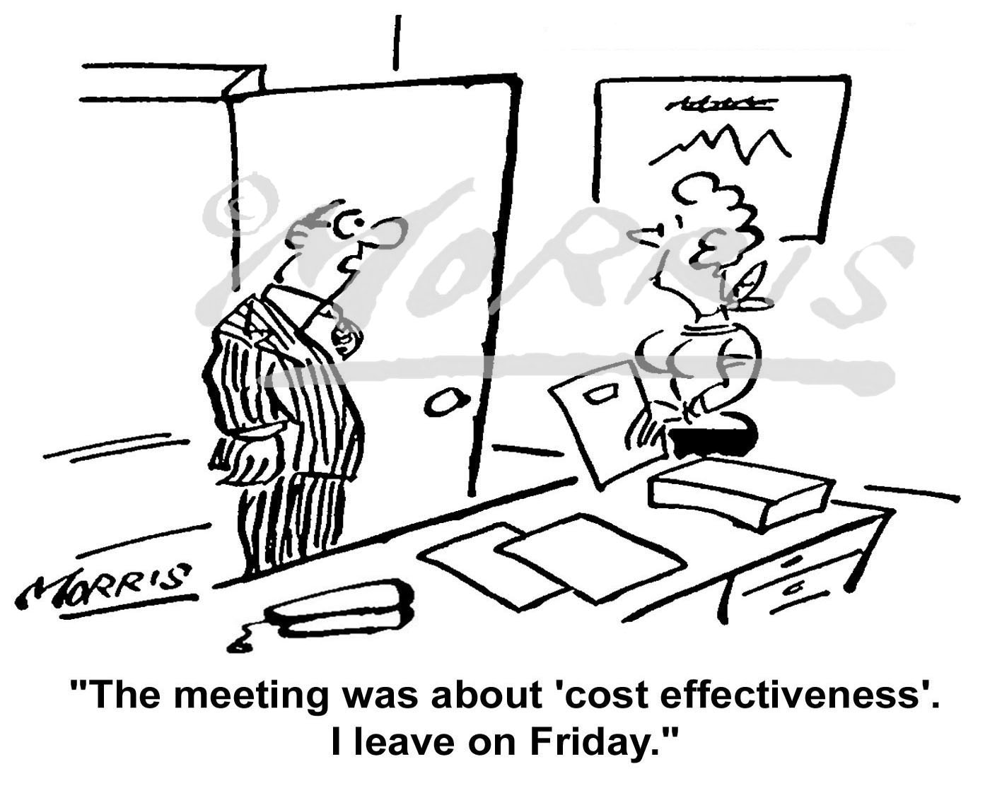 Company cartoon Ref: 1242bw
