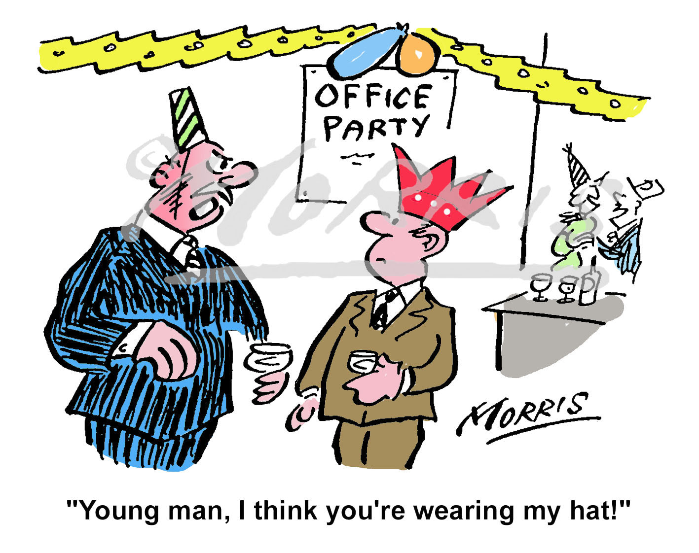 Office Christmas party cartoon Ref: 1261col | Business cartoons