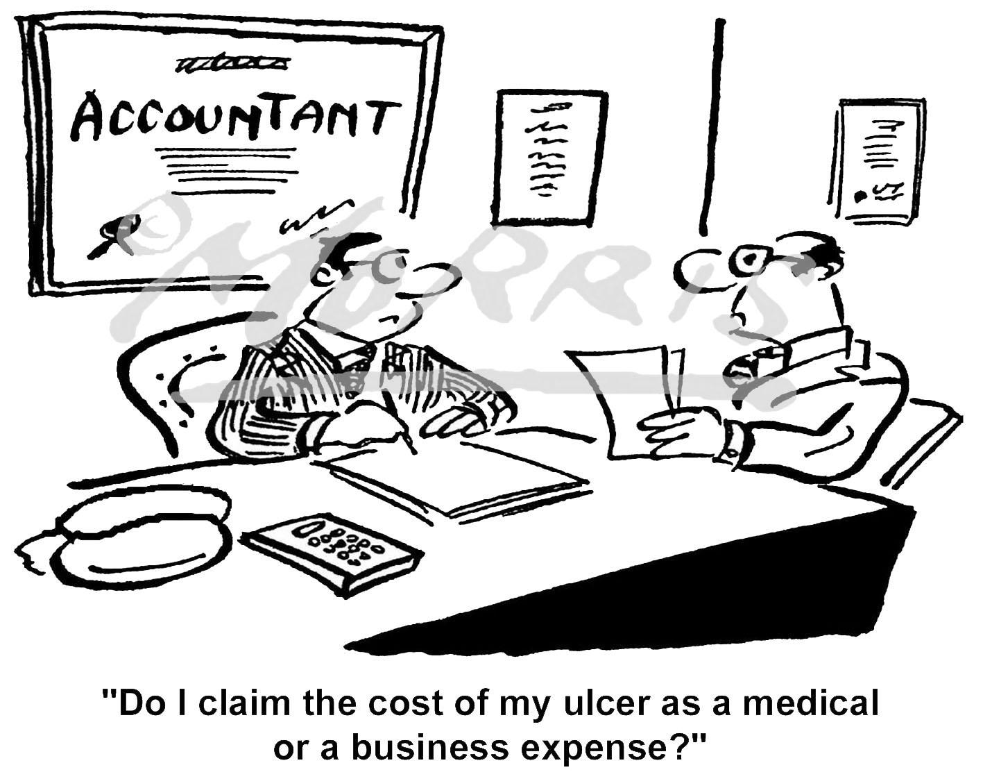 Accountant cartoon, Accountancy cartoon, Accounting cartoon, Auditor cartoon – Ref: 1282bw