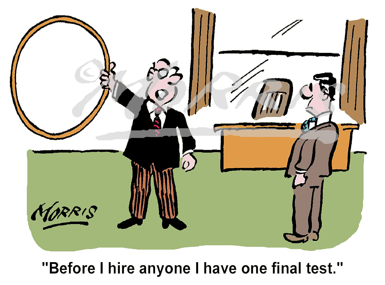 HR manager comic cartoon – Ref: 1328col
