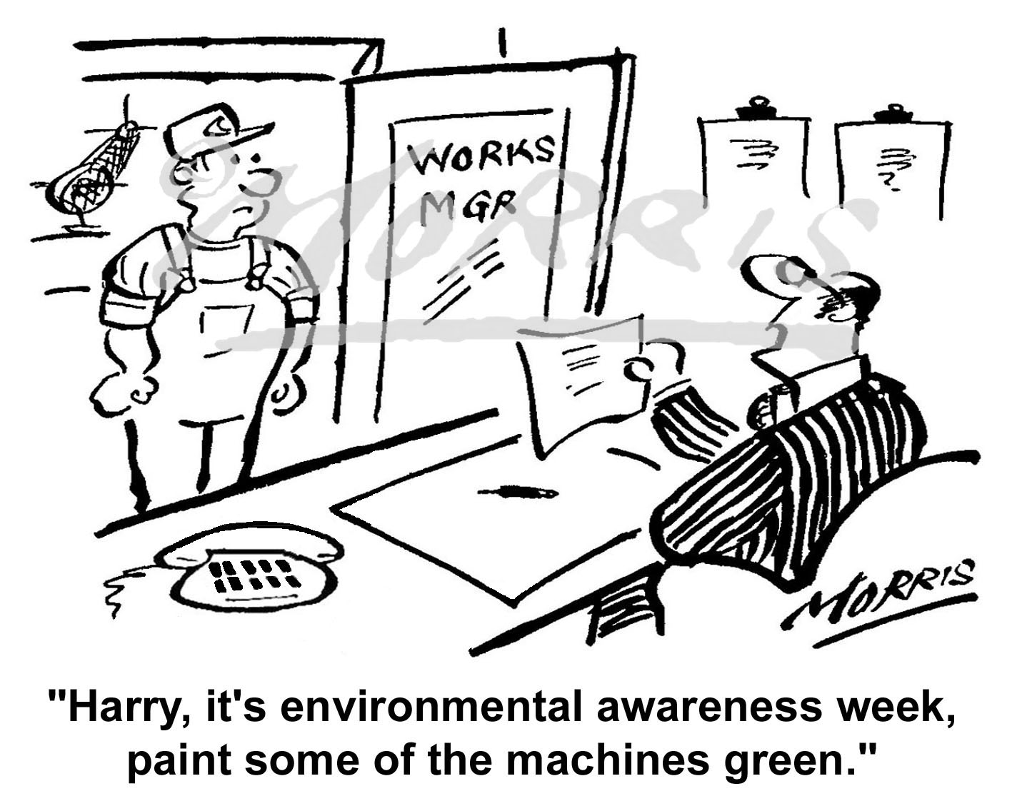 Environment cartoon, – Ref: 1378bw