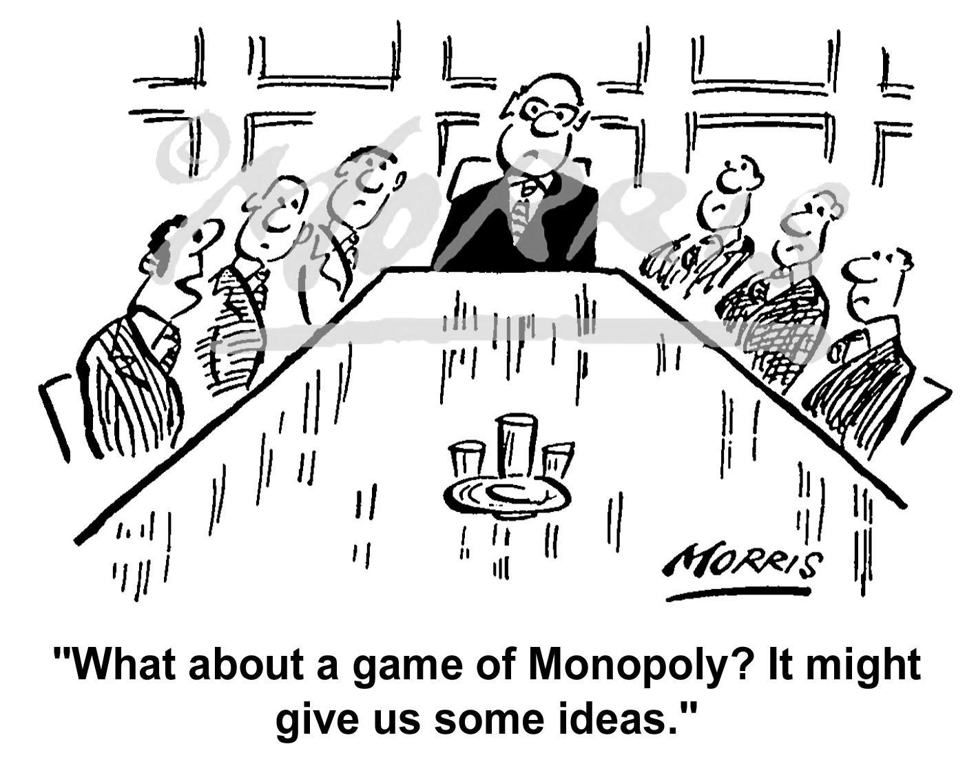 Boardroom meeting cartoon Ref: 1391bw