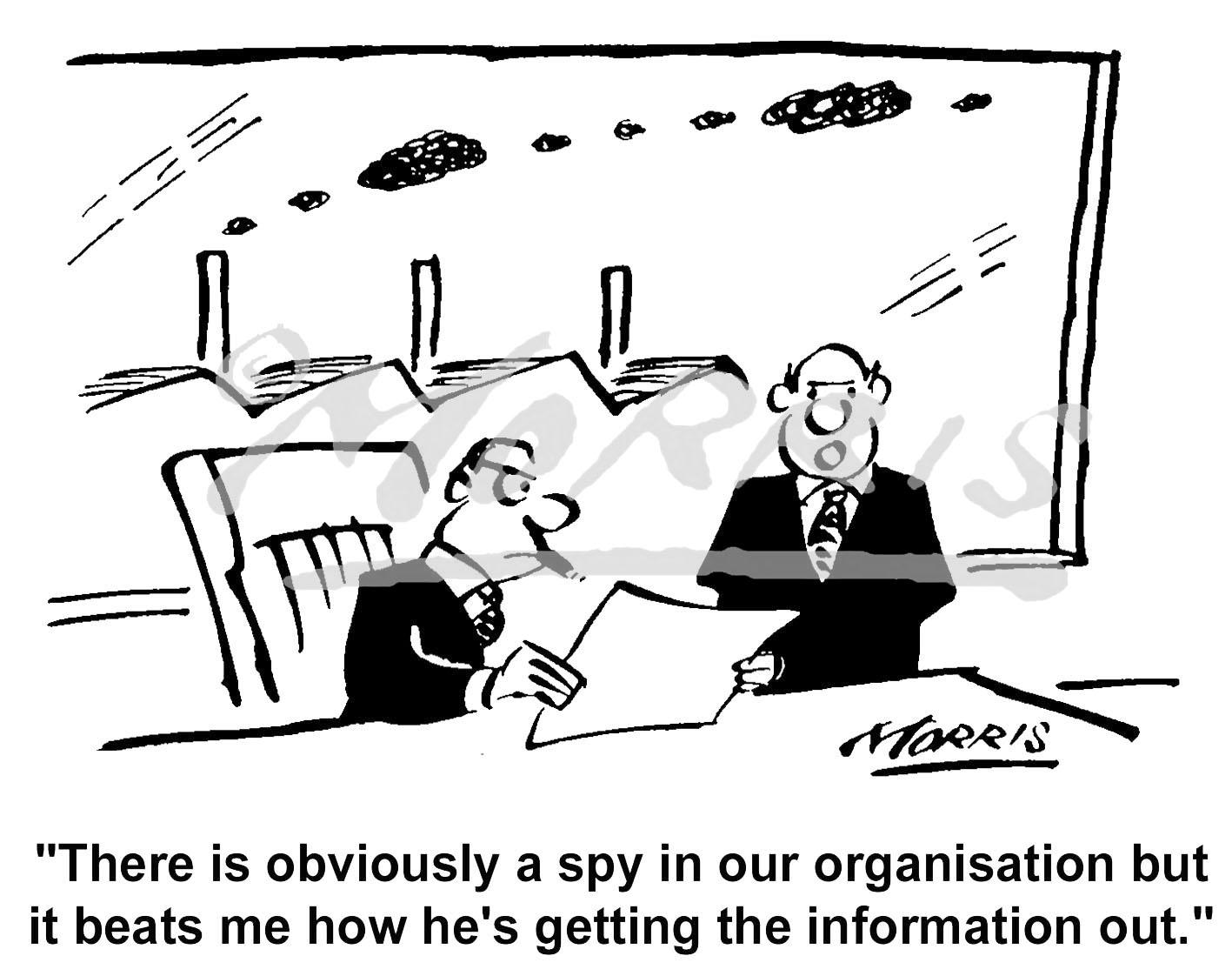 Company business cartoon ref: 1406bw