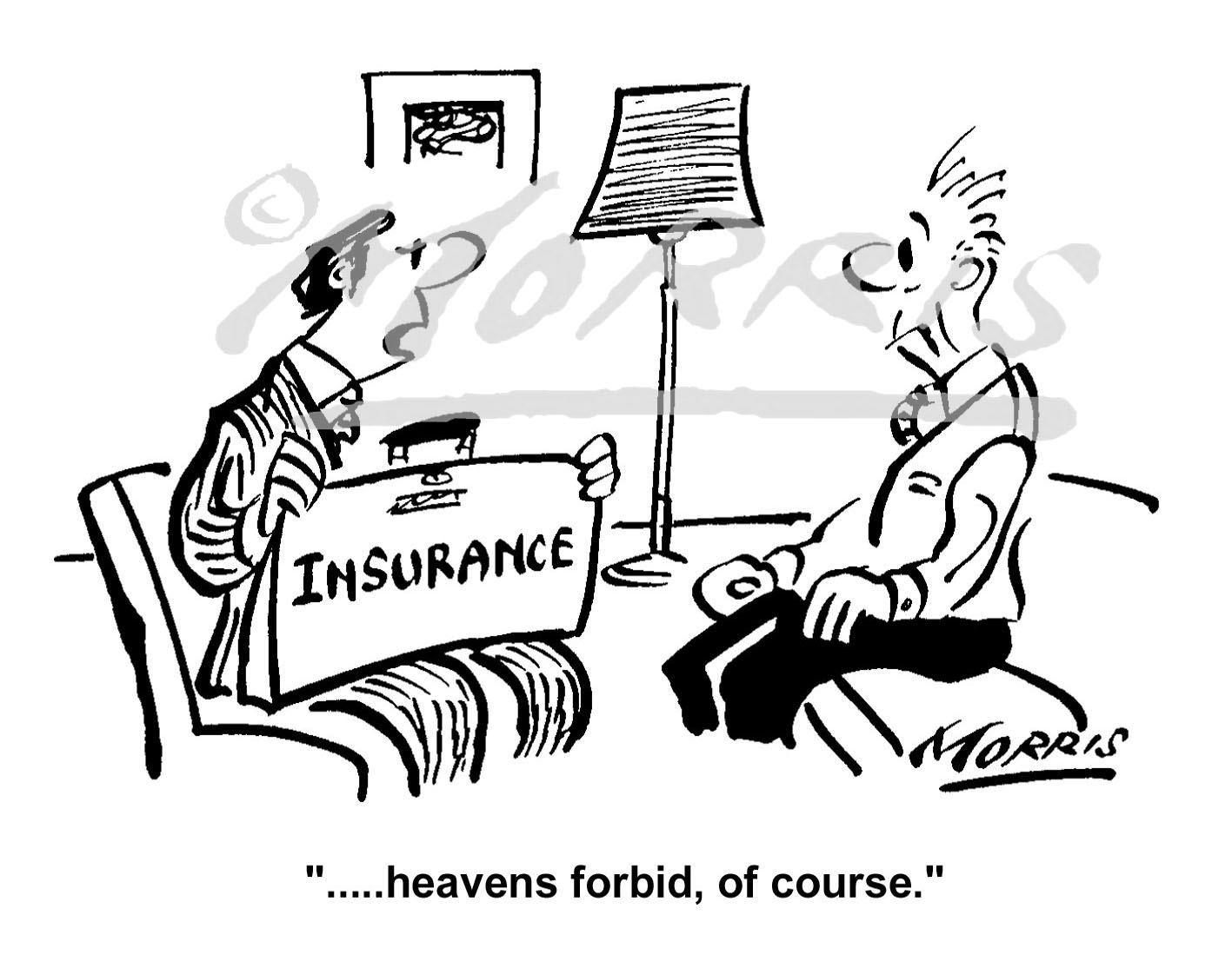 Insurance policy business cartoon Ref: 1430bw