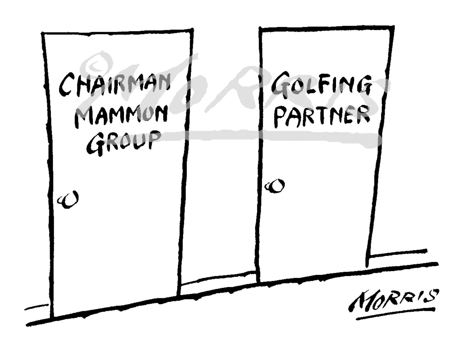 Business golf comic cartoon Ref: 1446bw