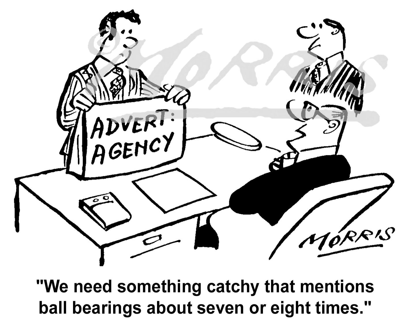 Advertisement agency cartoon Ref: 1465bw