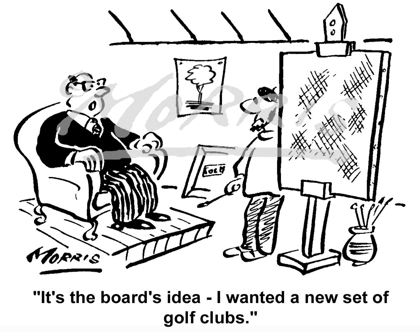 Boardroom Chairman cartoon Ref: 1469bw
