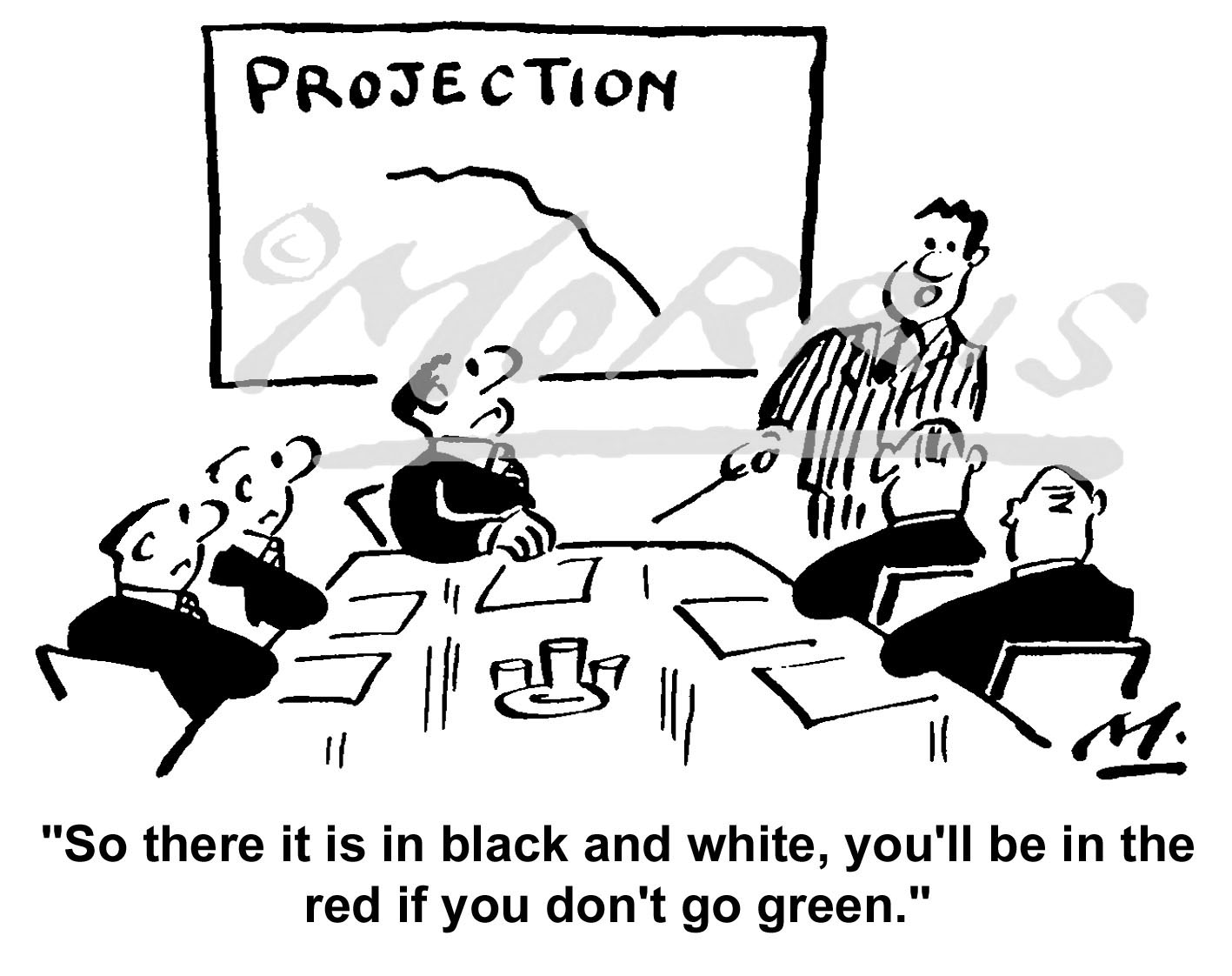 Environment business graph cartoon Ref: 1472bw