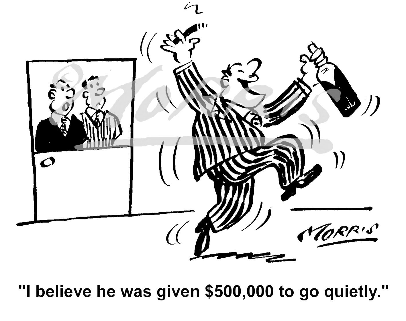 CEO cartoon, Director cartoon, Retirement cartoon –  Ref: 1473bwus
