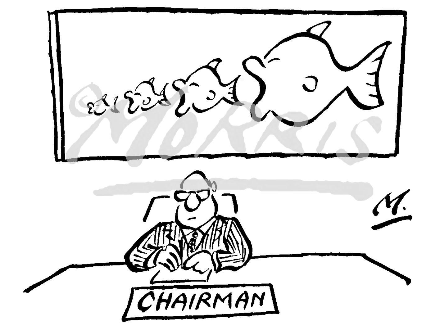 Chairman takeovers cartoon Ref: 1474bw
