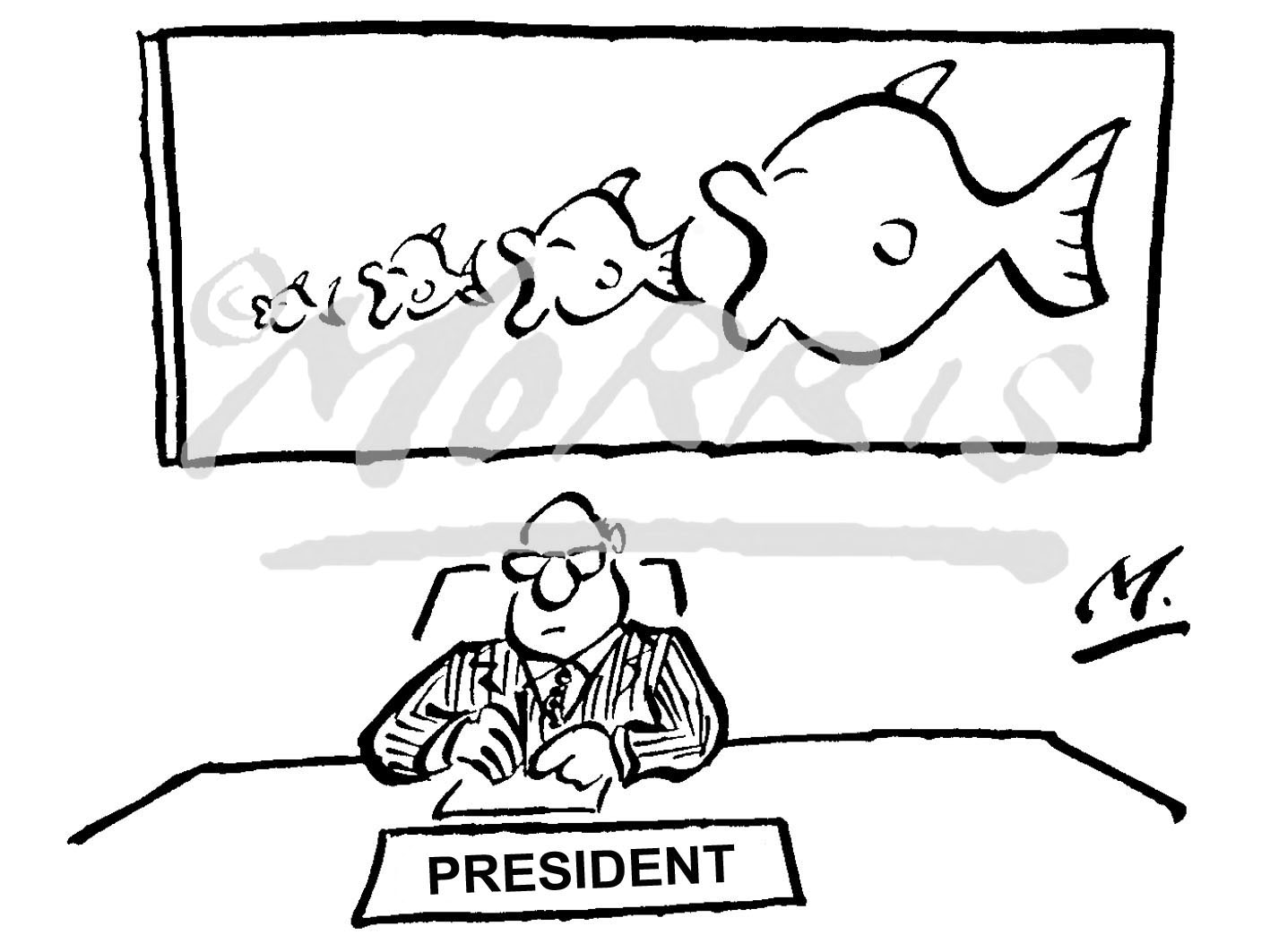President takeover cartoon Ref: 1474bwus