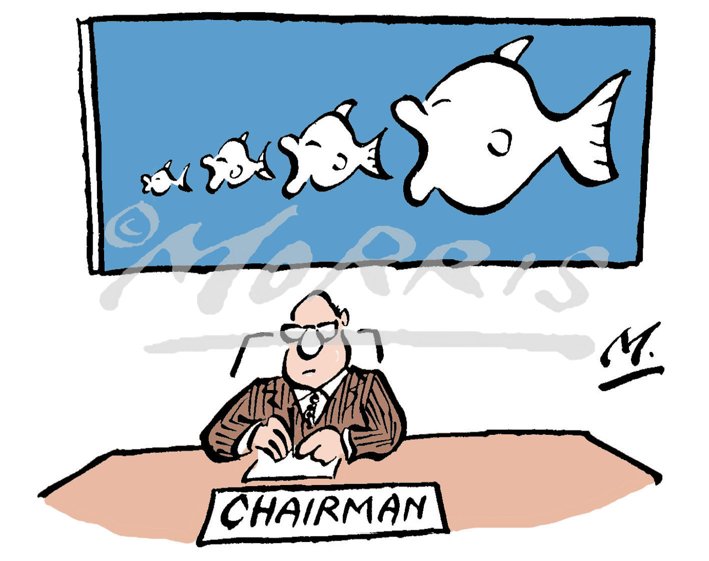 Chairman cartoon, takeover cartoon – Ref: 1474col