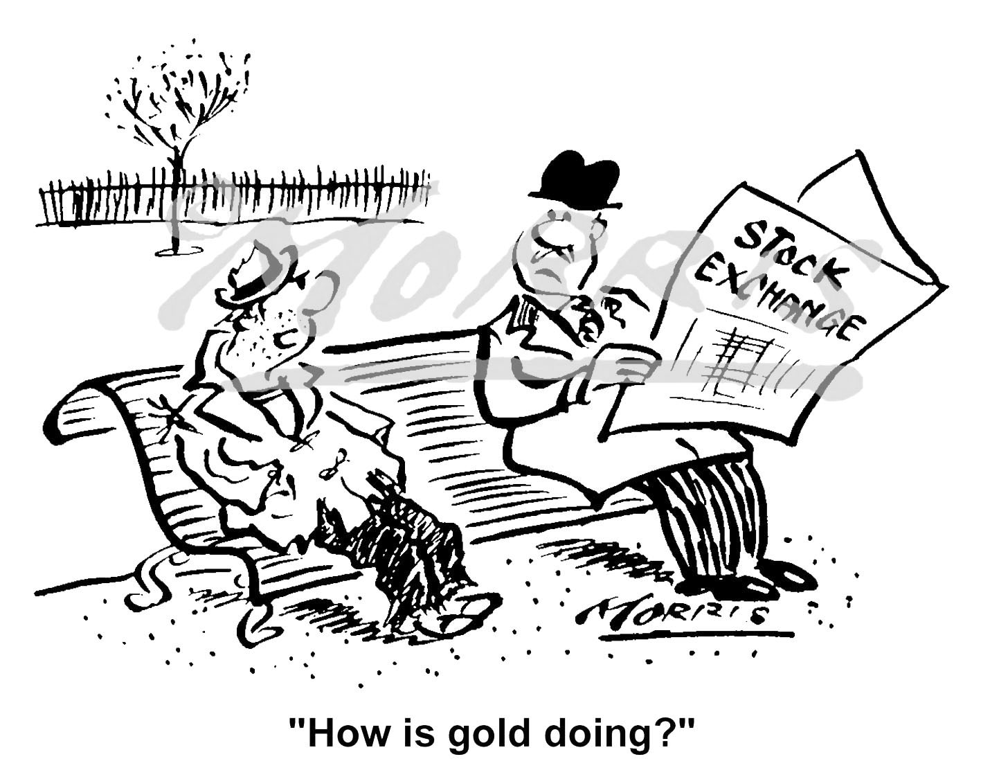 Stock Exchange business cartoon – Ref: 1476bw