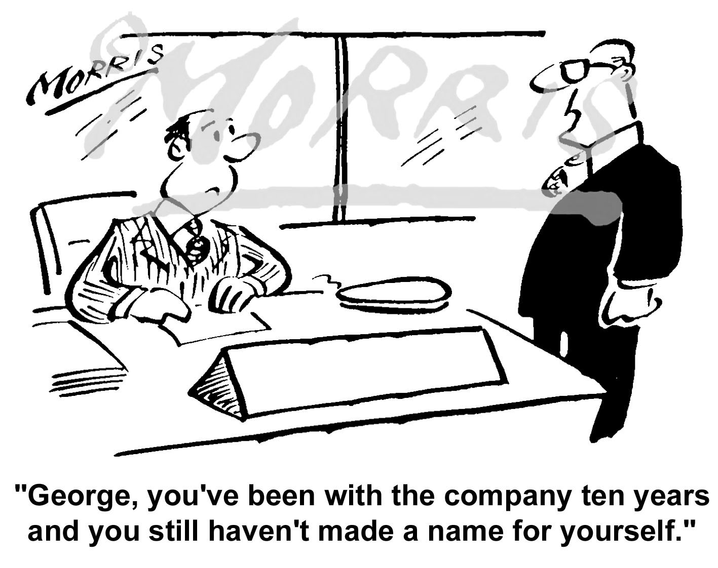 Manager office employee cartoon – Ref: 1485bw