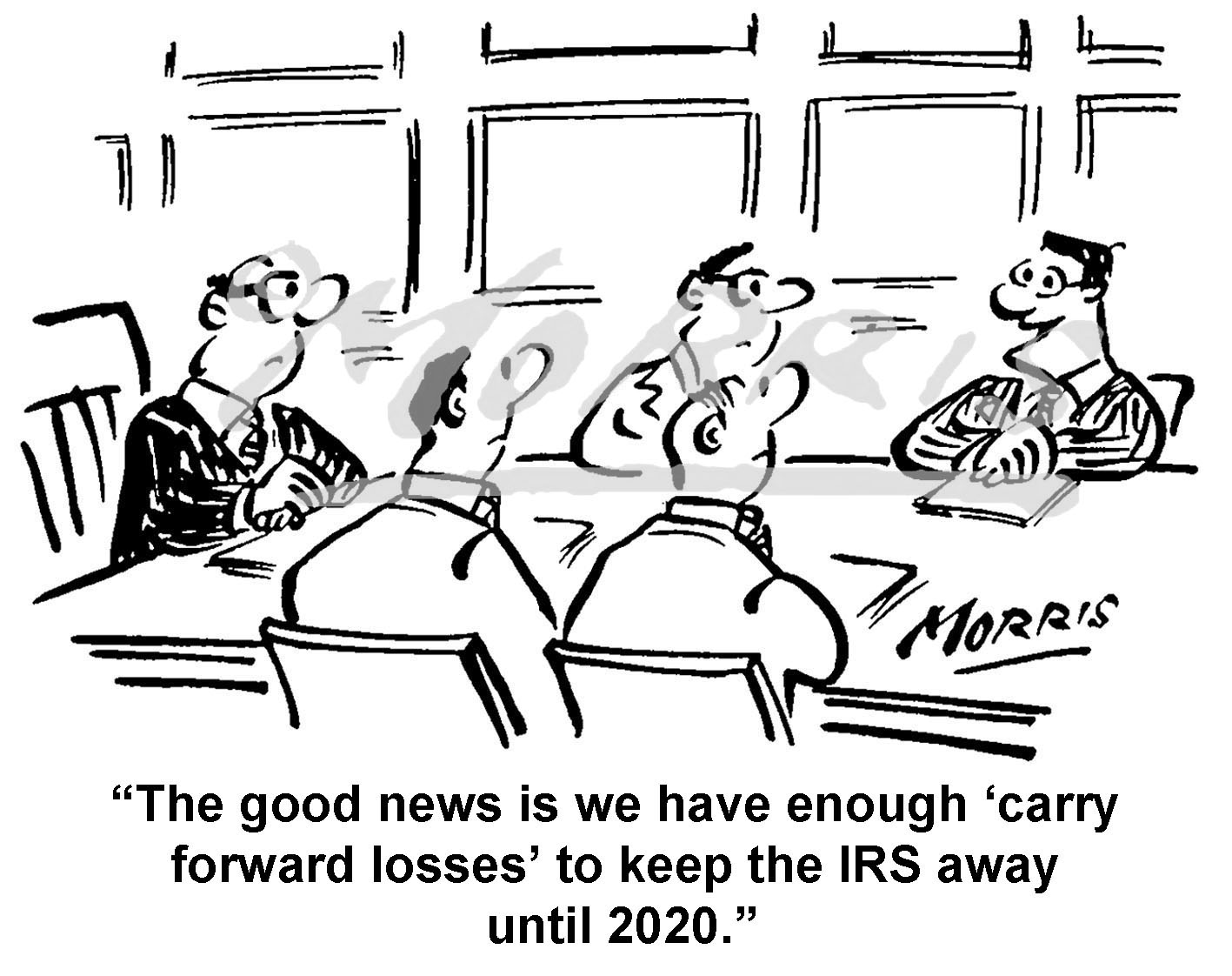 Boardroom cartoon, IRS cartoon, tax audit comic – Ref: 1499bwus