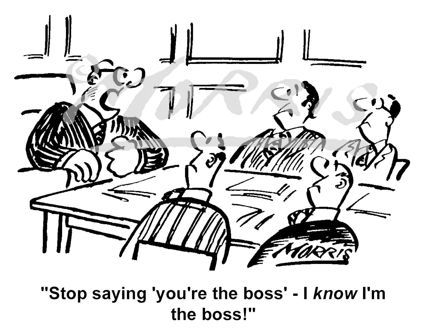Boss cartoon, boardroom cartoon – Ref: 1506bw