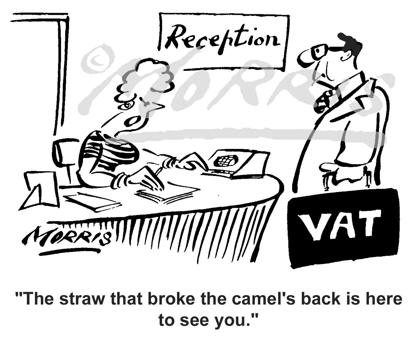 VAT business cartoon Ref: 1530bw