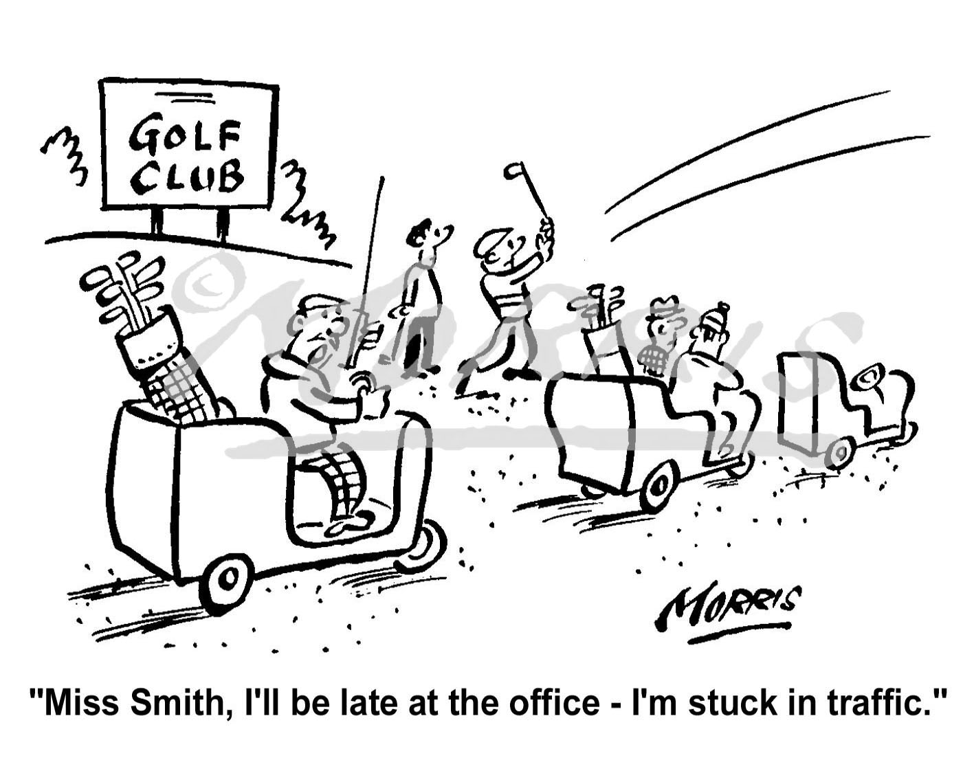 Business golf cartoon Ref: 1594bw