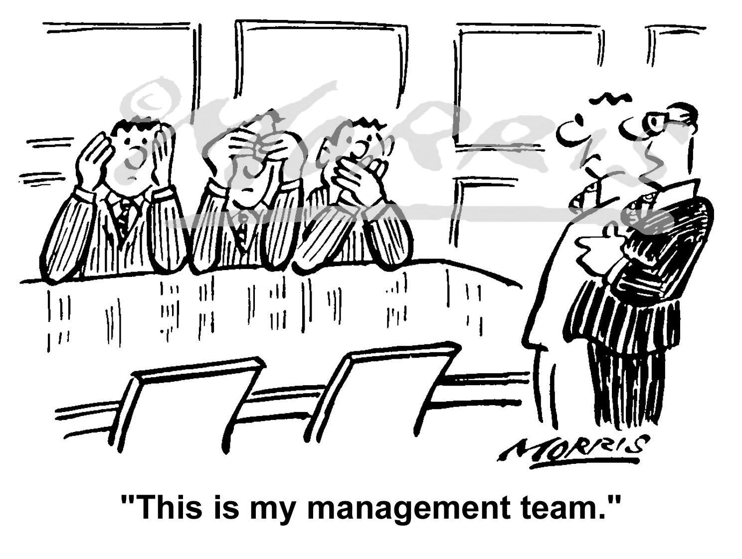 Boardroom cartoon – Ref: 1597bw