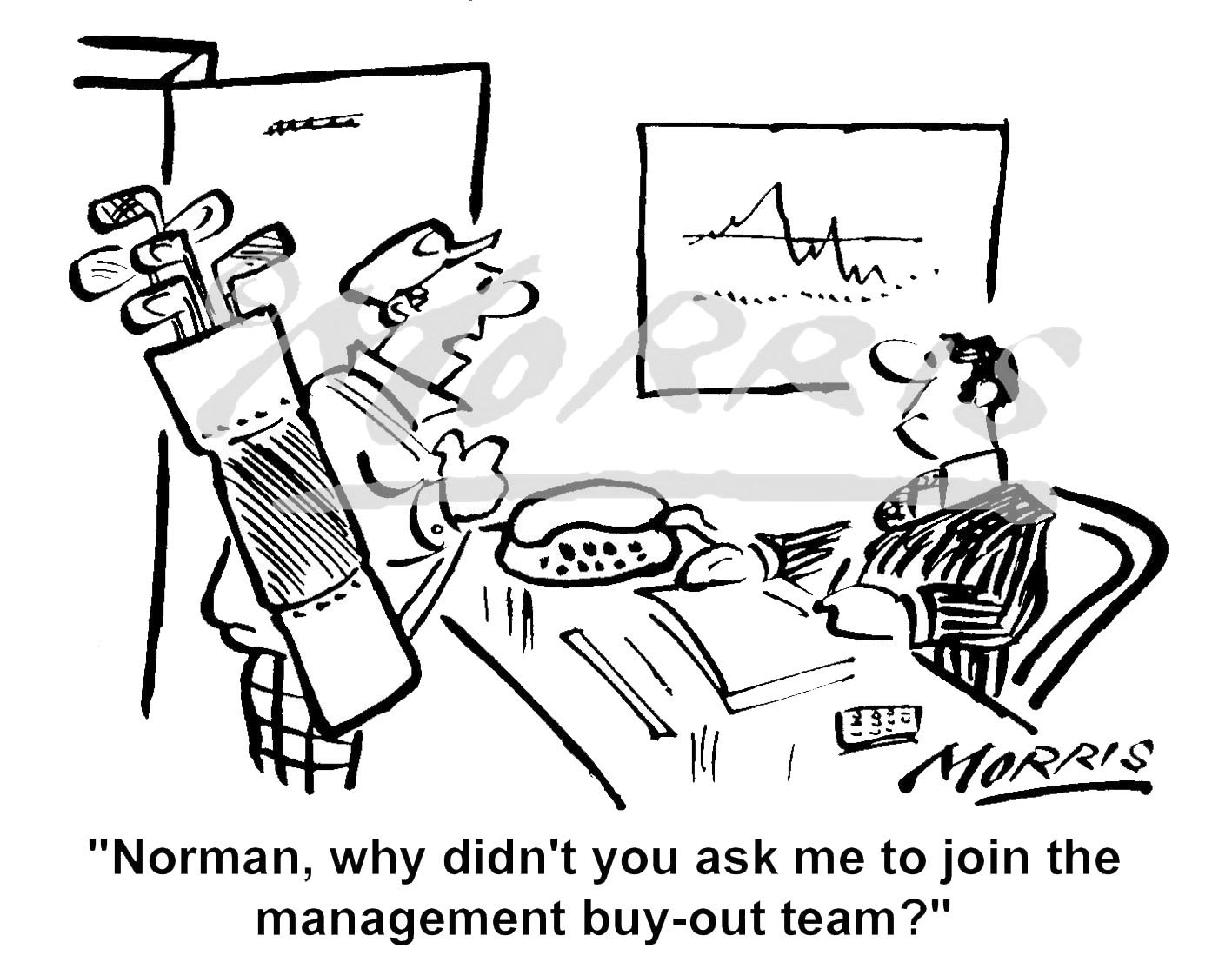 Management buy-out cartoon Ref: 1599bw