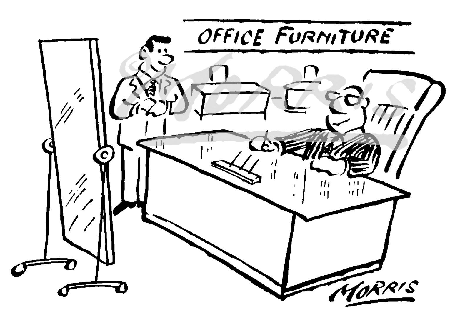 Office furniture cartoon Ref: 1620bw