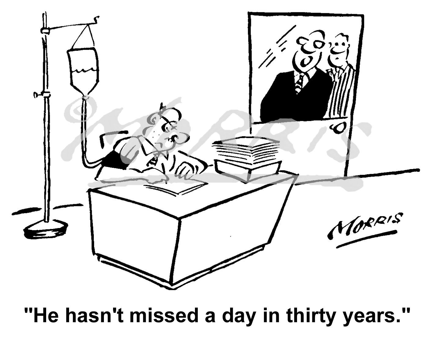 Office emoloyee cartoon Ref: 1628bw