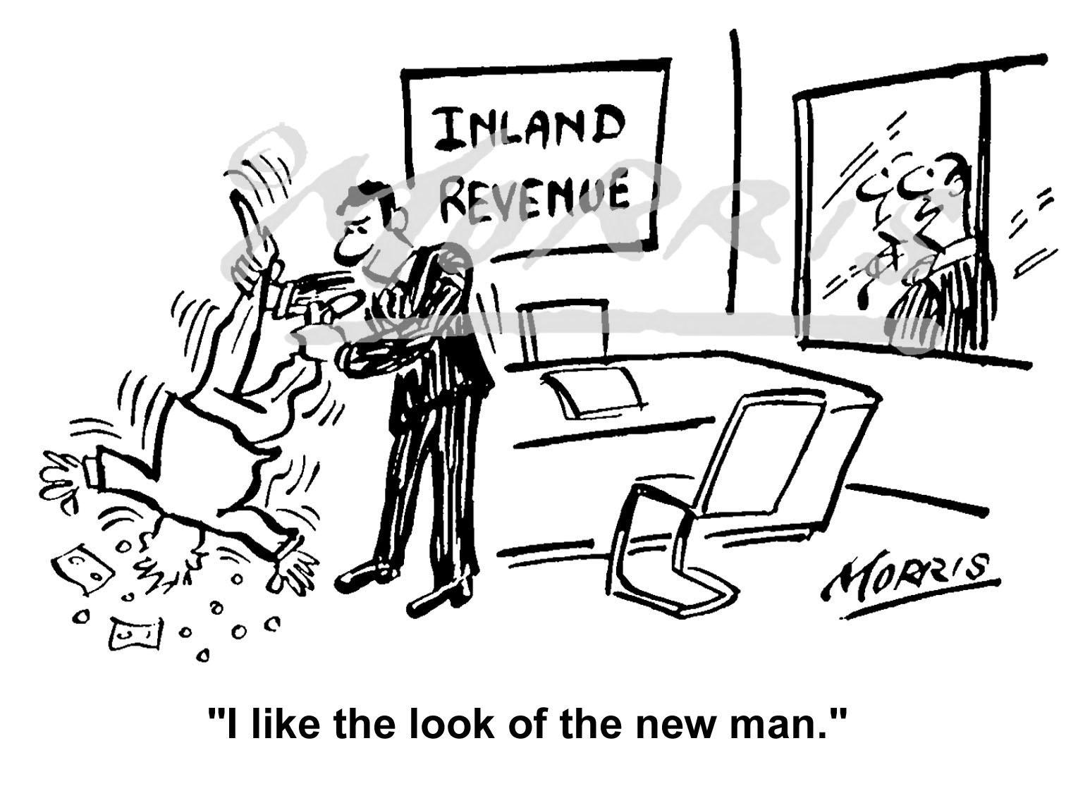 HMRC cartoon, tax cartoon – Ref: 1652bw