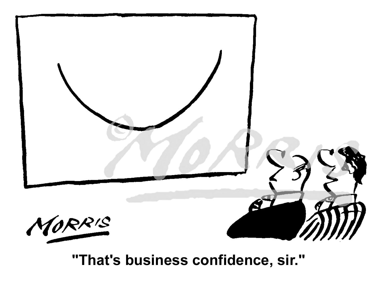 Business confidence cartoon, office comic – Ref 1660bw