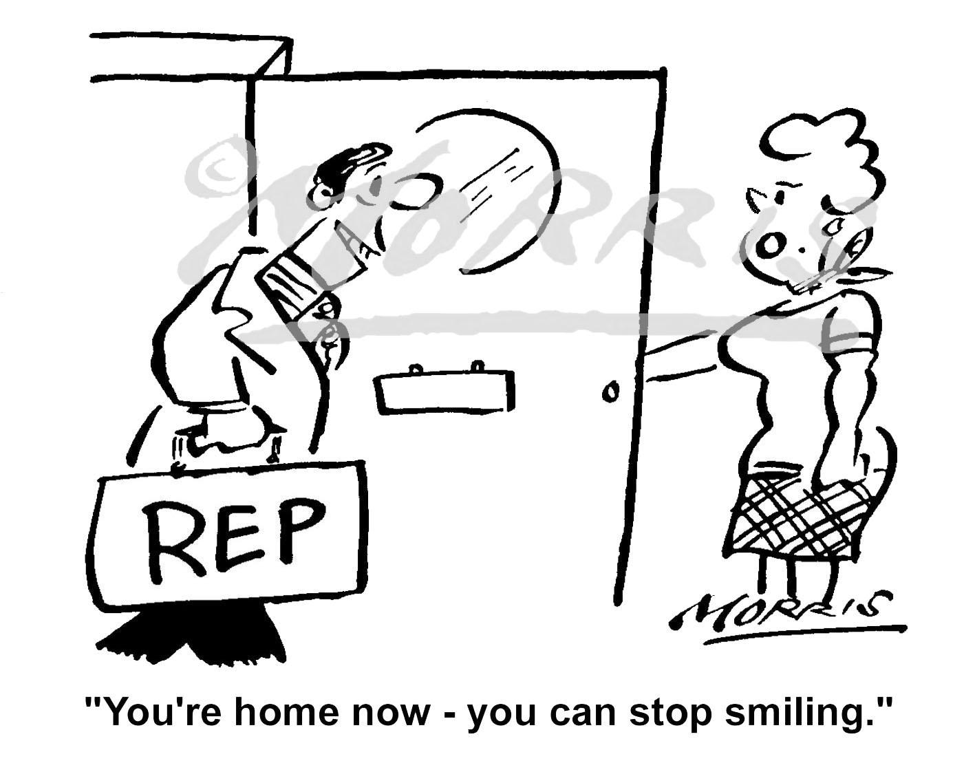Insurance sales rep cartoon Ref: 1671bw