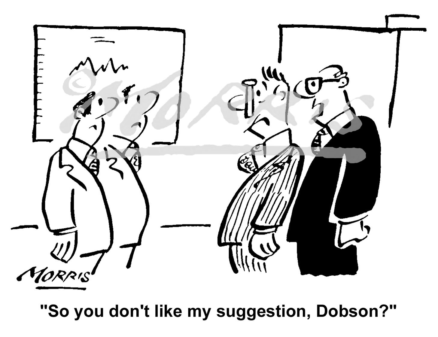 Manager cartoon, boss comic, employee cartoon Ref: 1675bw